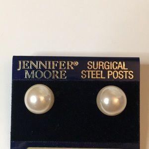 Jennifer moore large fashion pearl earrings